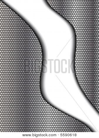 Abstract Chrome And Black Background