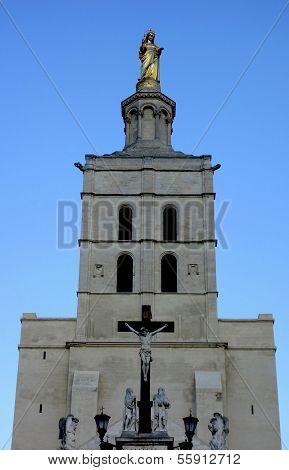 Notre Dames des Domes Cathedral near Papal Palace in Avignon, France
