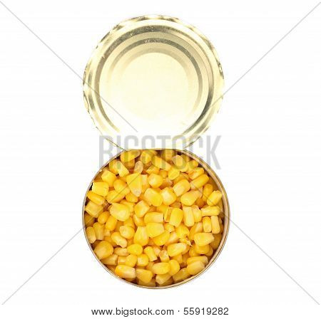Opened cans of corn.