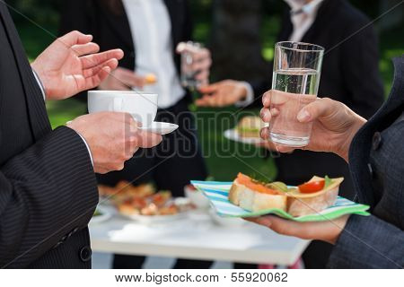 Business People At The Lunch Buffet