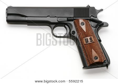 Pistol Isolated On White