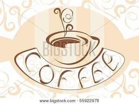 Coffee retro background