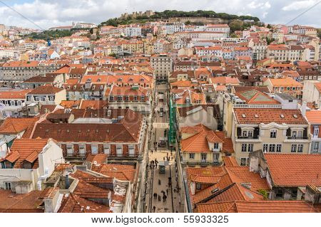 View from Mirador de Santa Lucia, Lisbon, Portugal