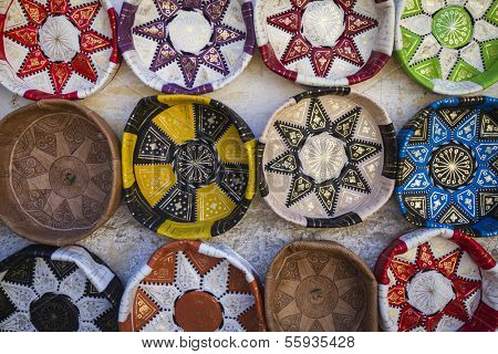 Traditional leather handicrafts of Morocco, Africa