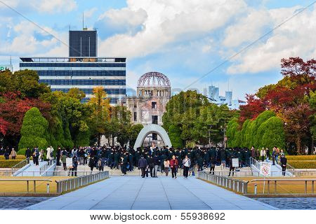 Memorial Cenotaph in Hiroshima Peace Park