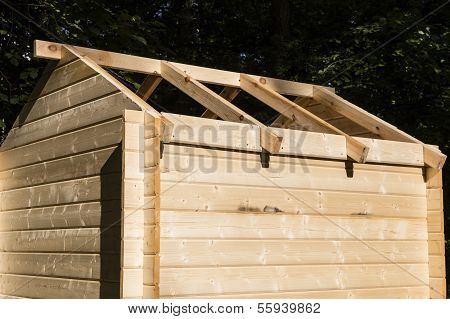 Construction Of A Wooden Hut