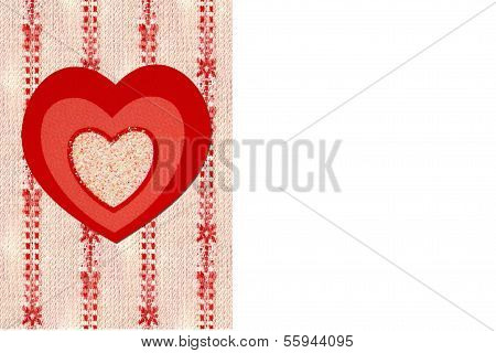 Tr-color heart with Candy Stripe Background