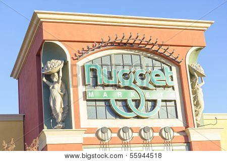 Sacramento, Usa - December 21:  Nugget Store Entrance On December 21, 2013 In Sacramento, California