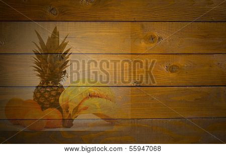 Fruits On Wooden Background