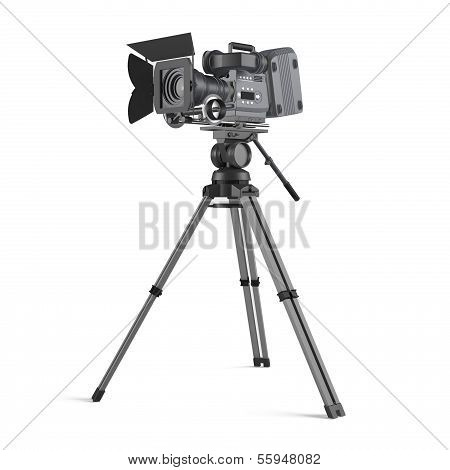 Movie camera isolated
