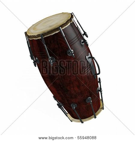 Traditional drums isolated