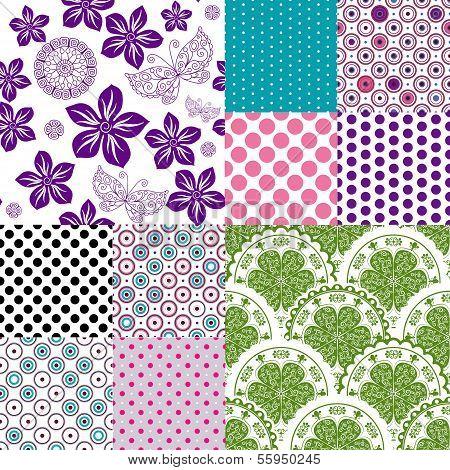 Set Seamless Vintage Pattern