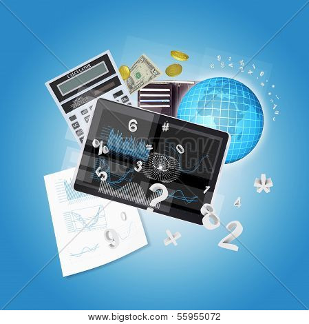 Tablet PC and office items