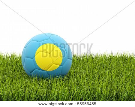 Football With Flag Of Palau