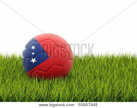 Football With Flag Of Samoa