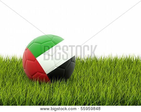 Football With Flag Of United Arab Emirates