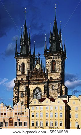 Tyn Cathedral At Prague