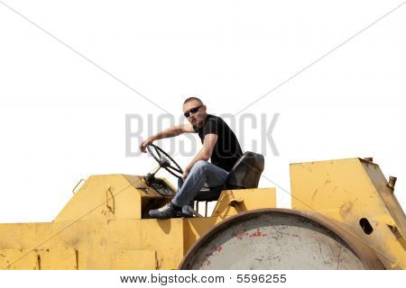 Man On Black Top Spreader
