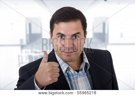 Business Man Thumbs Up On