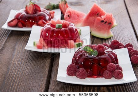 Mixed Sorts Of Red Jello