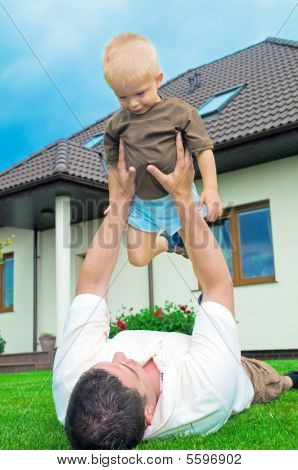 Father Having Fun With A Son