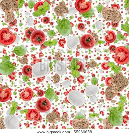 Antipasto Background (on White)