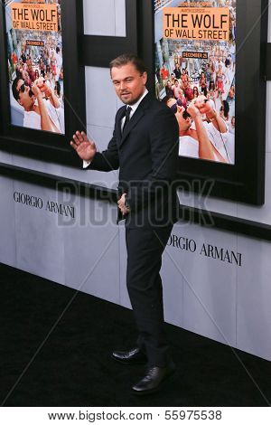 NEW YORK-DEC 17: Actor Leonardo DiCaprio attends the premiere of