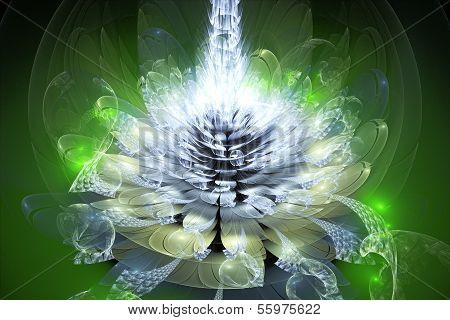 Green Fractal Flower