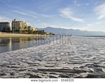 Pacific Ocean Beach In Mexico