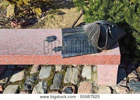 Bench Kant. Kaliningrad Russia