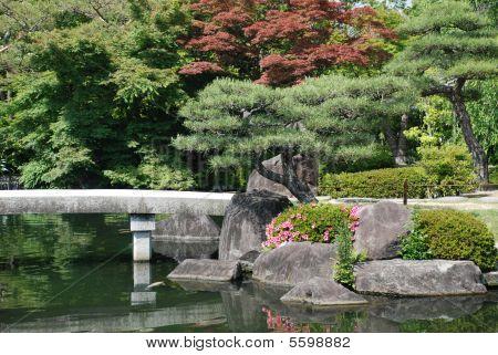 Bridge At Koko-En Gardens