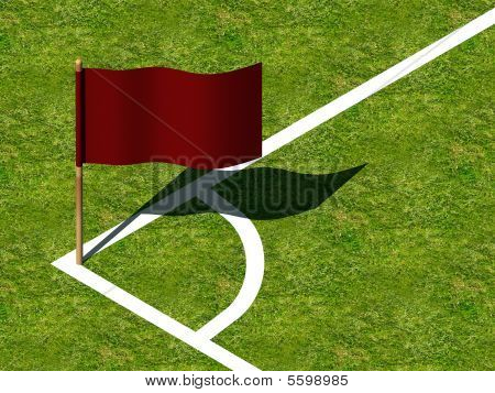 Soccer Corner Marking and Flag.