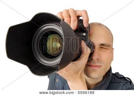 Photographer. Isolated On White Background