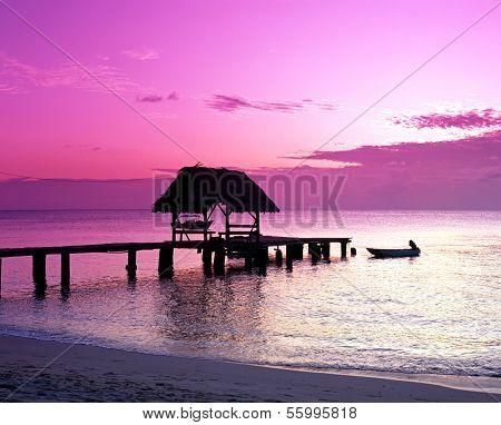Pigeon Point jetty, Tobago.