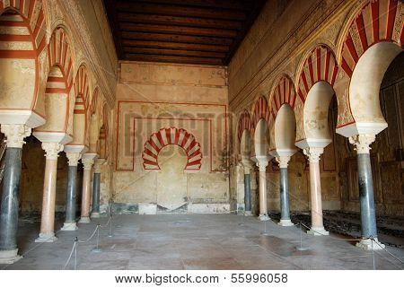 Central nave, Medina Azahara, Spain.