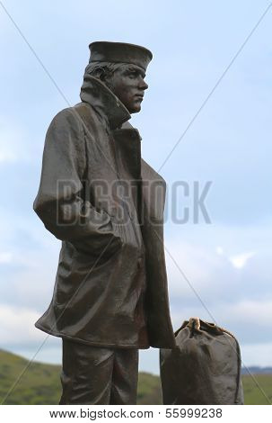 The Lone Sailor statue in San Francisco