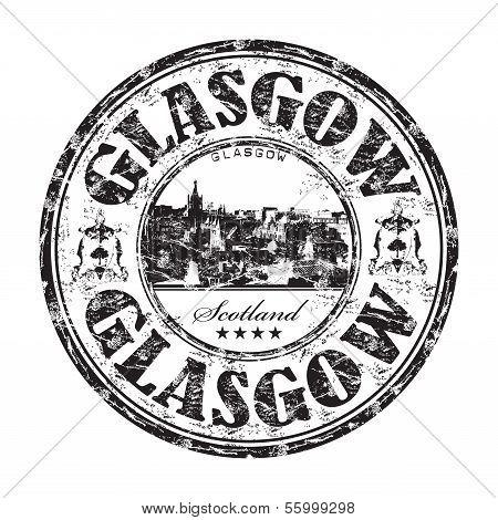 Glasgow grunge rubber stamp