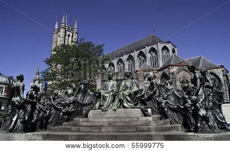 Memorial To Brothers Jan And Hubert Van Eyck