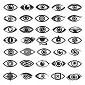 picture of optical  - eyes icons - JPG