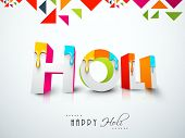 Indian color festival Holi celebration background with stylish 3D text Holi decorated by paint colou