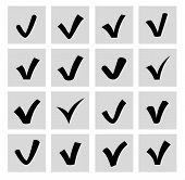 picture of confirmation  - vector confirm icons set - JPG