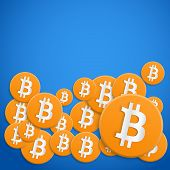foto of electronic banking  - Background on financial money Bitcoin - JPG
