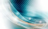 picture of wavy  - modern vector abstract background and circular grid - JPG