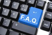 image of faq  - frequently asked questions or faq written on computer key - JPG