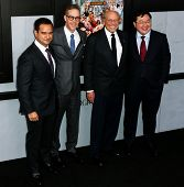 NEW YORK-DEC 17: (L-R) Producers Riza Aziz, Joey McFarland, Irwin Winkler and Joe Low attend the pre