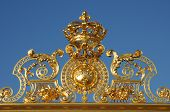 foto of versaille  - France golden gate of the Versailles palace - JPG