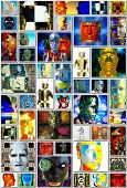 stock photo of cyborg  - Cyborg collage  - JPG
