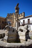 stock photo of baeza  - Fountain of the lions Plaza de Populo  - JPG