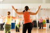 picture of bum  - Dance class for women at fitness centre - JPG