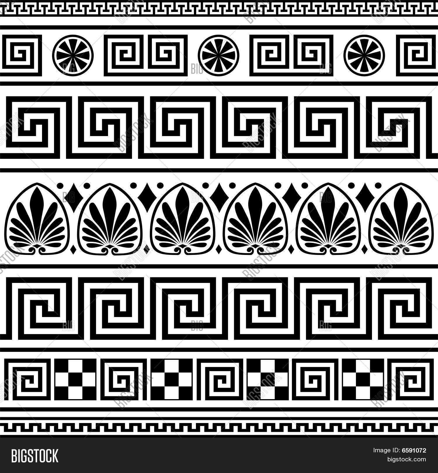 Set vector greek borders vector photo bigstock for Greche decorative